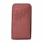 Protective PU Leather Case Pouch for Iphone 4 / 4S / 5 - Deep Red
