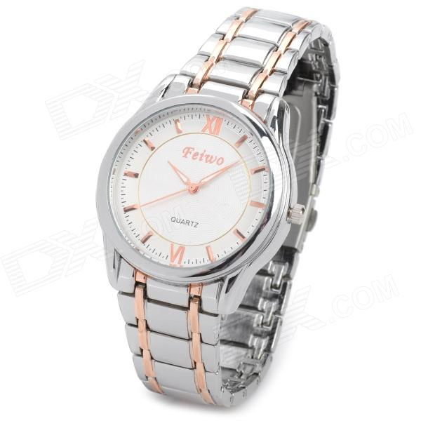 Feiwo Stainless Steel Band Analog Quartz Wrist Watch for Men (1 x 377)