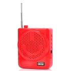 "Tianzhi T901 0.8"" Screen Multi-Media Player Speaker w/ TF / FM / External Microphone - Red"