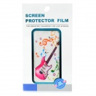 Decorative 3D Guitar Pattern Protective Front + Back Cover Skin Sticker for Iphone 4S