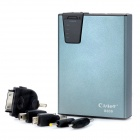 Cager B030 10000mAh External Mobile Power Battery Charger w/ Adapters / SD Slot / 2-LED Light - Grey