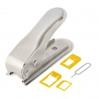 Nano SIM Card Cutter w/ 3 Adapters for Iphone 5 - Silver