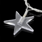 3W 30-LED Five-Pointed Star Style Decorative RGB String Light (220V / 2-Round-Pin Plug)