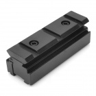 Aluminum Alloy 11mm to 20mm Weaver Rail Scope Mount Base Adapter - Black