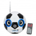 Creative English Football Style Media Player Speaker w/ FM / SD / LED / Remote Controller