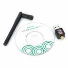 SL-1506N 150Mbps USB 2.0 Wireless Network Adapter w/ Antenna- Black