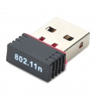 SL-1501N Mini IEEE802.11b / g / n 150Mbps USB 2.0 Wi-Fi Wireless Network Adapter - Negro