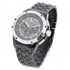 SPETAK 9001G-4 Stylish Quartz Wrist Watch - Black + Silver (1 x CR026)