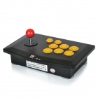 DILONG PU702 USB Street Fighter Joystick Controller for PS3 / PC - Black + Yellow + Red