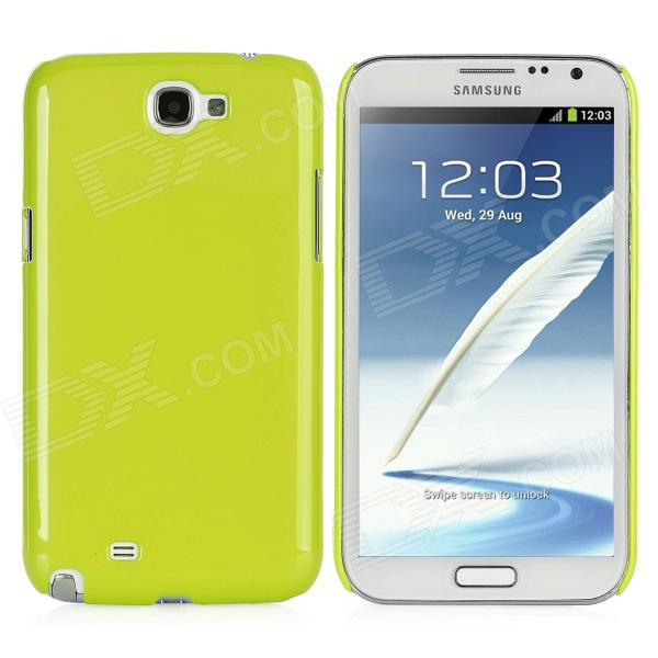Protective Plastic Back Case for Samsung Galaxy Note 2 / N7100 - Yellow Green