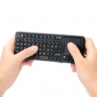RII RT-MWK02+ Mini Wireless Bluetooth Keyboard w/ Touchpad / Laser Pointer / Backlight - Black