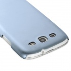 Fashion Protective Aluminum Alloy Back Case for Samsung Galaxy S3 i9300 - Grey