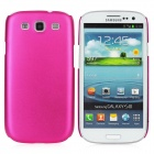 Fashion Protective Aluminum Alloy Back Case for Samsung Galaxy S3 i9300 - Deep Pink