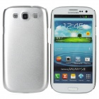 Fashion Protective Aluminum Alloy Back Case for Samsung Galaxy S3 i9300 - Silver