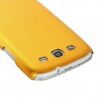 Fashion Protective Aluminum Alloy Back Case for Samsung Galaxy S3 i9300 - Golden
