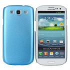 Fashion Protective Aluminum Alloy Back Case for Samsung Galaxy S3 i9300 - Blue