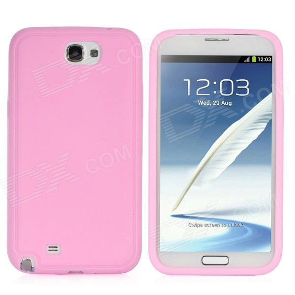 Protective Silicone Back Case for Samsung Galaxy Note 2 / N7100 - Pink