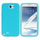 Protective Silicone Back Case for Samsung Galaxy Note 2 / N7100 - Cyan