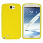 Protective Silicone Back Case for Samsung Galaxy Note 2 / N7100 - Yellow