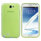 Protective Matte Silicone Back Case for Samsung Galaxy Note 2 / N7100 - Light Green
