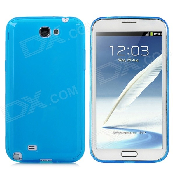 Protective Silicone Matte Back Case for Samsung Galaxy Note 2 / N7100 - Blue