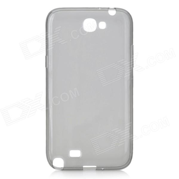Protective Matte Silicone Back Case for Samsung Galaxy Note 2 / N7100 - Grey