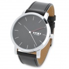 EYKI Men's Strengthen Wear-Resisting Glass Analog Quartz Wrist Watch - Black (1 x 377)