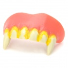Adult Scary Full Classic Vampire Dentures Fangs 6-Teeth for Halloween - Red + White + Yellow