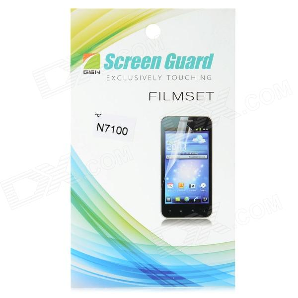 Protective Screen Protector Guard Film for Samsung Galaxy Note 2 N7100 newtop protective clear screen protector guard film for samsung galaxy note 2 n7100 transparent