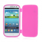 Protective Soft Plastic Flip-Open Case for Samsung i9300 - Deep Pink