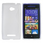Protective TPU Case für HTC Windows Phone 8X / C620e / C620a / Accord - White