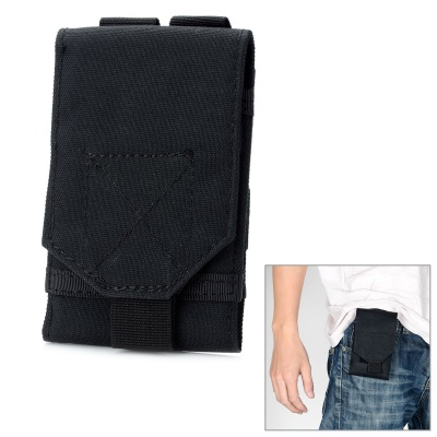Outdoor Waterproof Fabrics Mobile Phone Carrying Bag / Pouch for War Game / Mountaineering - Black