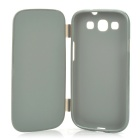 Protective Soft Plastic Flip-Open Case for Samsung i9300 - Grey