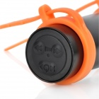 Stylish Waterproof MP3 Player w/ FM - Black + Orange (4GB)