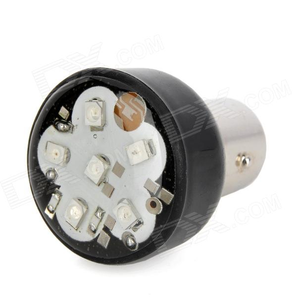 S25 1.5W 65lm 6-LED Colorful Light Motorcycle Brake Bulb Lamp (12V) motorcycle modified brake speaker silver 12v