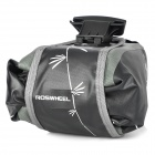 ROSWHEEL Bike Bicycle Waterproof Saddle Bag - Black + Grey