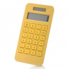 "Fashion 1.7"" LCD Eco-friendly Corn Plastic Solar Power Calculator - Yellow"
