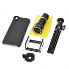 10X Zoom Optical Camera Lens Telescope w/ TrIpod for Iphone 5 - Black + White