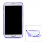 Protective Back Case w/ Stand Holder for Samsung Galaxy Note 2 N7100 - Purple + Transparent