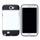 Protective PC Back Case for Samsung Galaxy Note 2 N7100 - Black + White