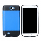 Protective PC Back Case for Samsung Galaxy Note 2 / N7100 - Black + Blue