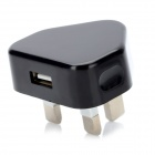 Mini USB Power Adapter / Charger - Black + White (UK Plug / 100~240V)