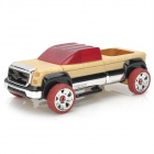 Handmade Assembly Wooden Jeep Toy Car - Red + Black + Wood