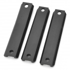 Aluminum Alloy Tactical Short Gun Rail for HK G36 - Black (3PCS)