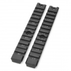 Aluminum Alloy Tactical Long Gun Rail for HK G36 / G36K / G36 - Black (2 PCS)