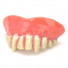 Artificial Teeth w/ Blood for Halloween Party - White + Red
