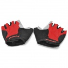 Stylish Anti-Slip Half-Finger Bike Bicycle Riding Gloves - Black + Red + Grey (2 PCS)