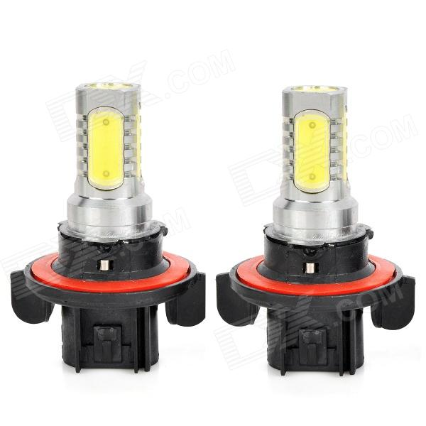 SENCART H13 7.5W 600lm 5-LED White Light Car Headlamp / Fog / Signal Lamp (2 PCS / 12~24V) gc h11 30w 600lm 6000k white light led car headlamp fog light black silver dc10 24v