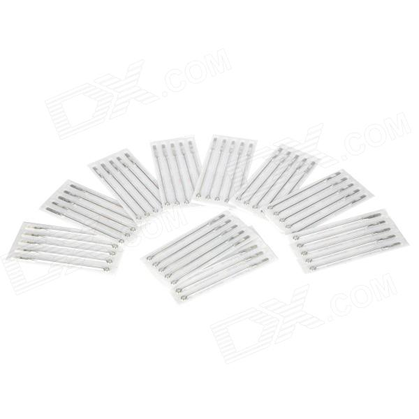 15RM Iron Alloy Round Curved Tattoo Needles Set - Silver (50 PCS)