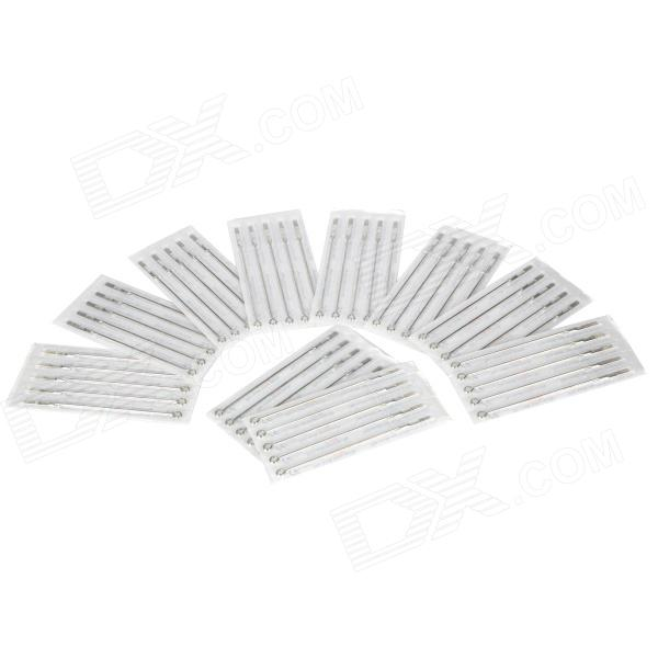 13RM Iron Alloy Round Curved Tattoo Needles Set - Silver (50 PCS)